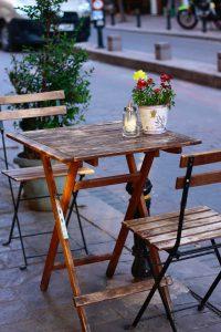 houten ovale eettafel